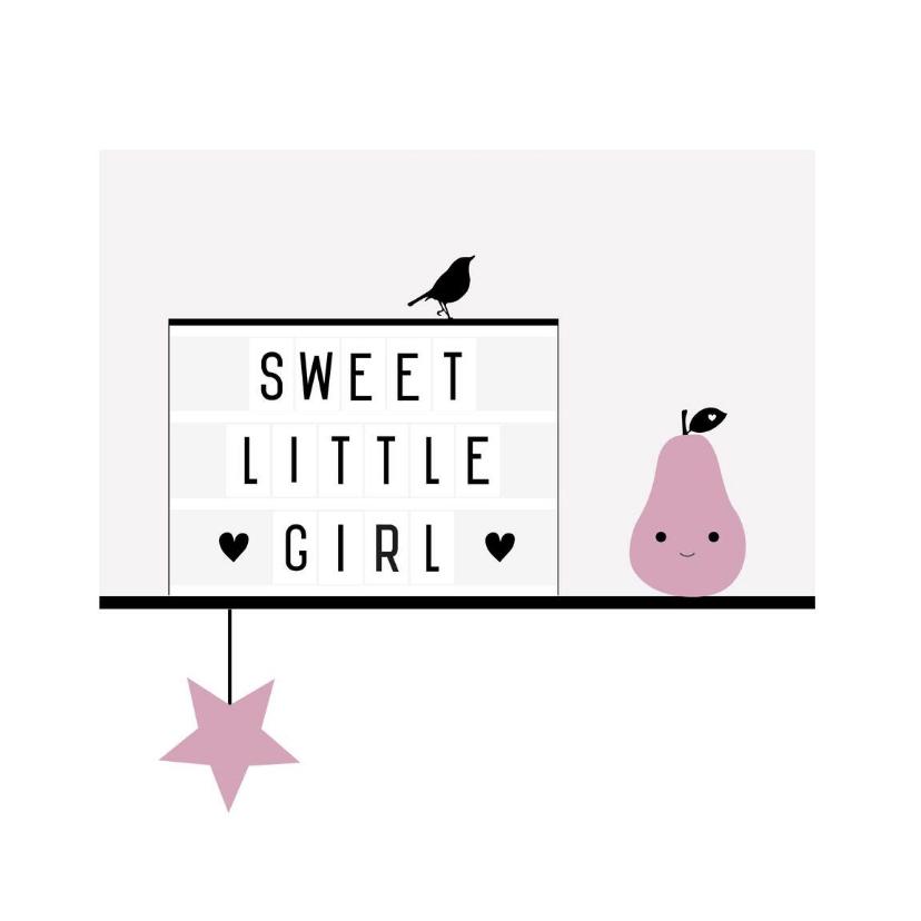 Felicitatiekaarten - Felicitatie-Lightbox, roze, peer
