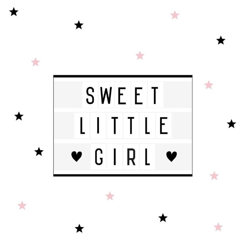 Felicitatiekaarten - Felicitatie-Lightbox, roze, ster