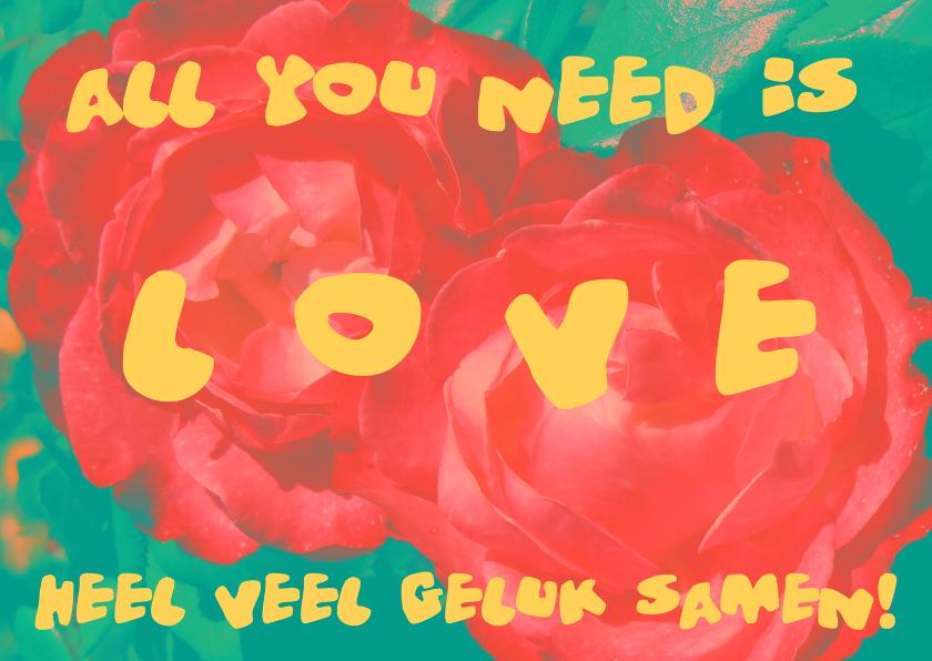 Felicitatiekaarten - Felicitatie Love Roses IW