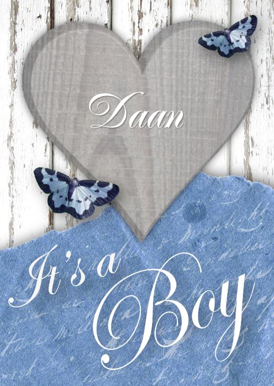 Felicitatiekaarten - Felicitatie Lovely Vintage Boy
