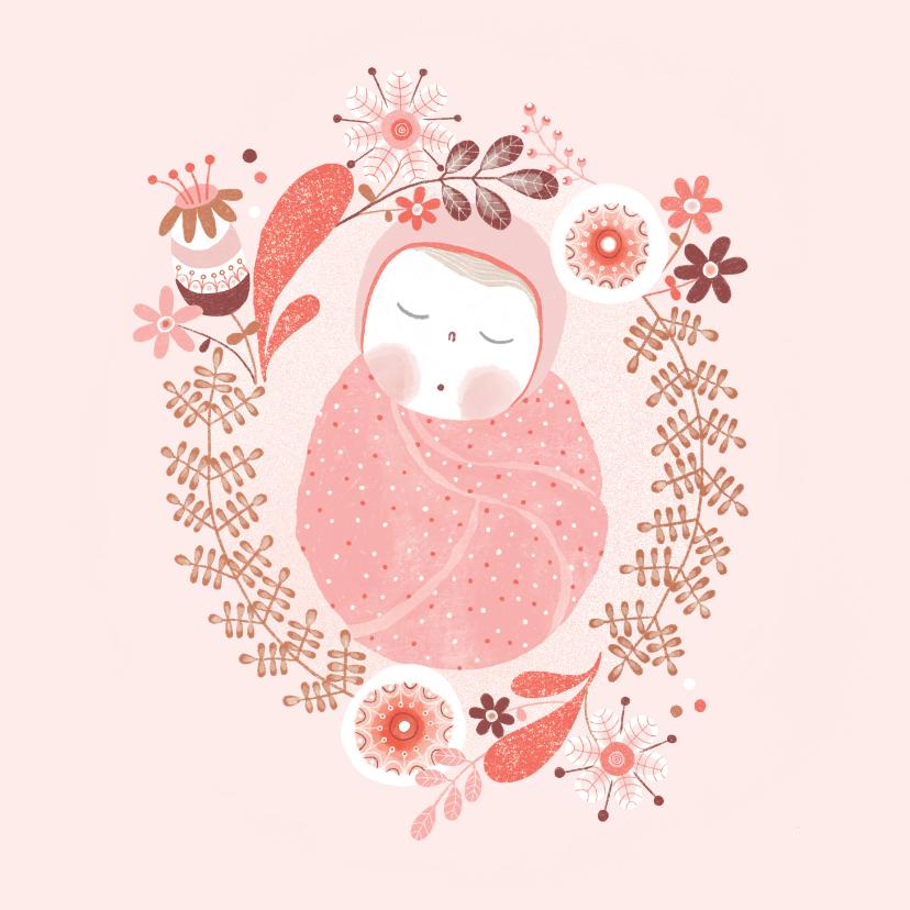 Felicitatiekaarten - Felicitatie meisje baby roze - MW