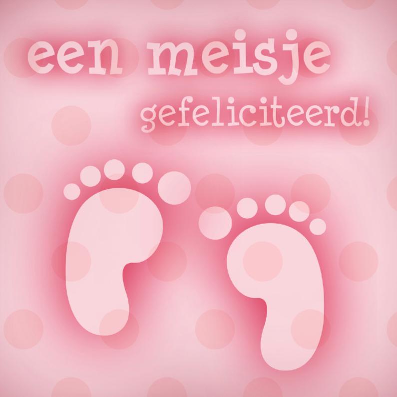 Felicitatiekaarten - Felicitatie meisje voet 1
