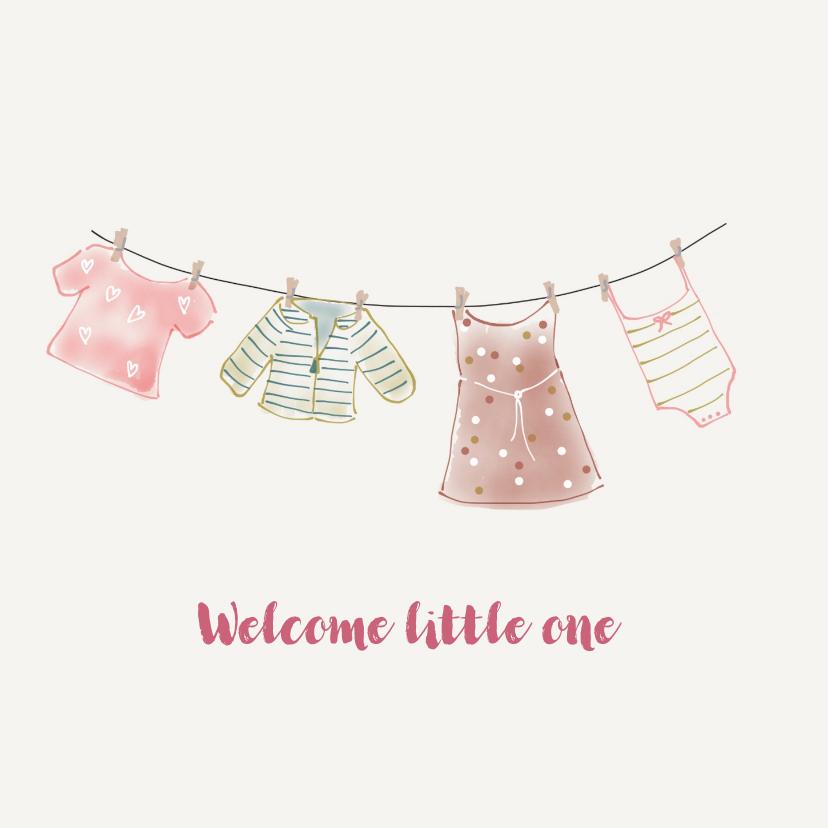 Felicitatiekaarten - Felicitatie Meisjeskleertjes