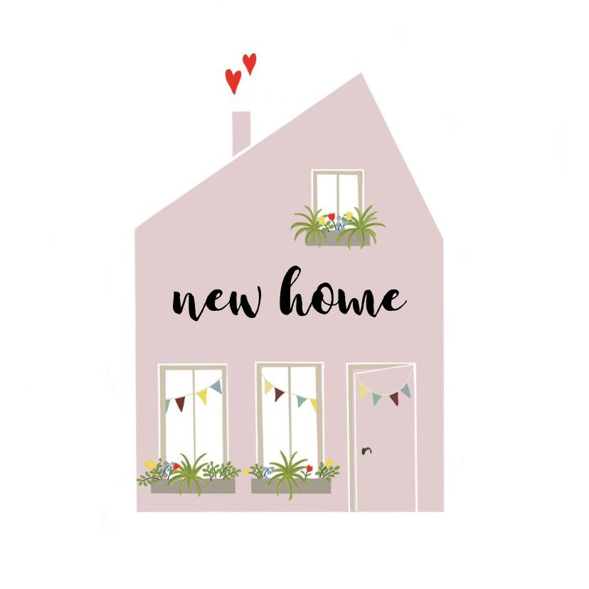 Felicitatiekaarten - Felicitatie Nieuw huis Illustratie