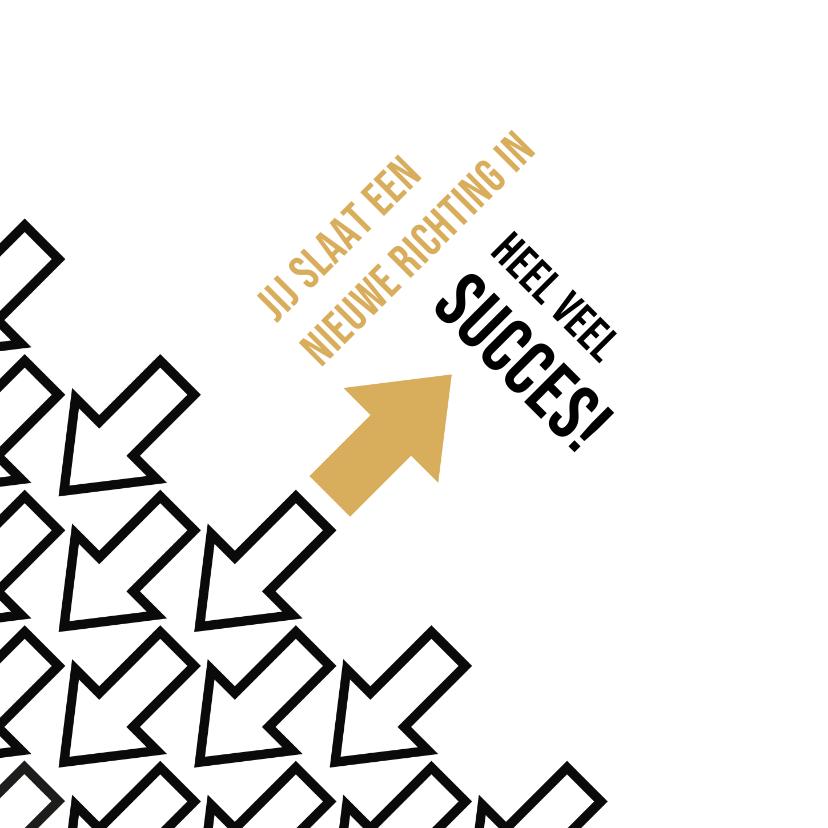 Felicitatiekaarten - Felicitatie nieuwe richting