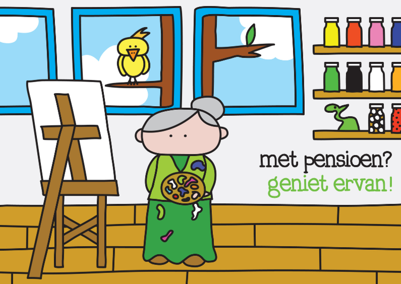 Felicitatiekaarten - Felicitatie Pensioen Creatief