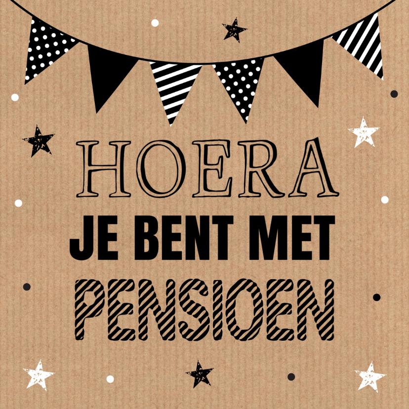 Felicitatiekaarten - Felicitatie pensioen kraft slinger typografie