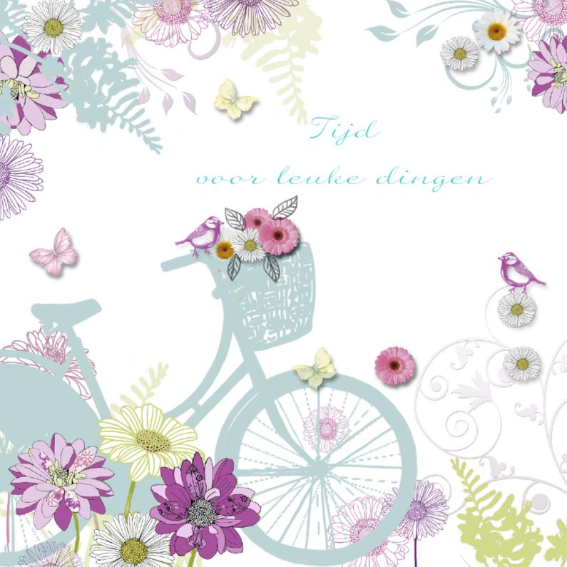 Felicitatiekaarten - felicitatie pensioen met fiets