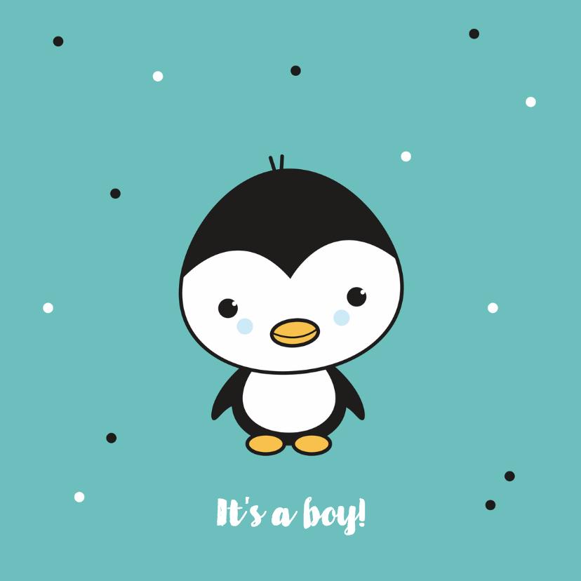 Felicitatiekaarten - Felicitatie - Pinguïn jongetje