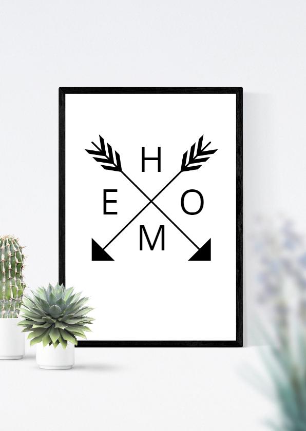 Felicitatiekaarten - Felicitatie planten happy new home poster