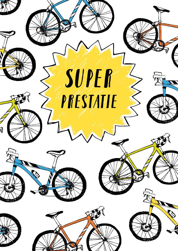 Felicitatiekaarten - Felicitatie prestatie fietsen