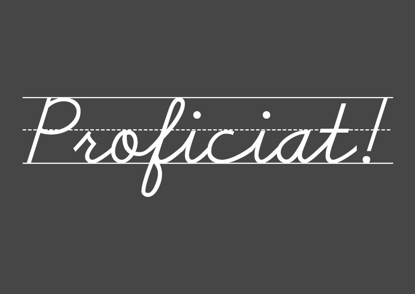 Felicitatiekaarten - Felicitatie Proficiat Krijttekst