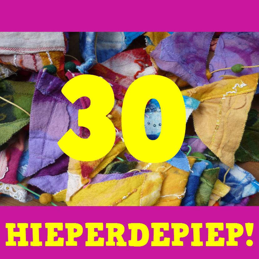 Felicitatiekaarten - Felicitatie roze vlaggetjes - AW