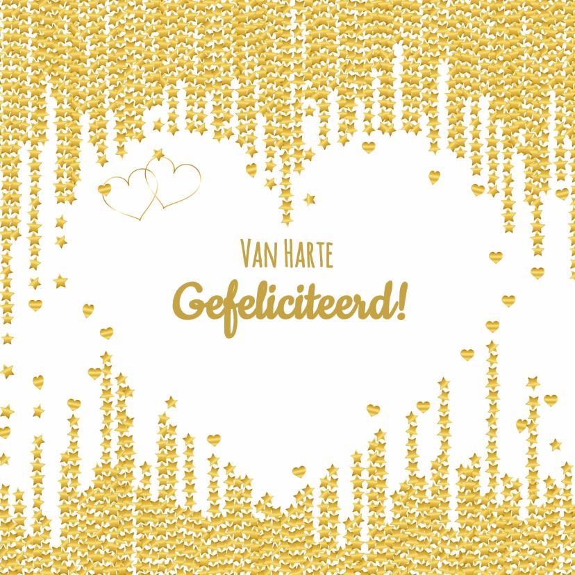 Felicitatiekaarten - Felicitatie sierlijk ster  hart