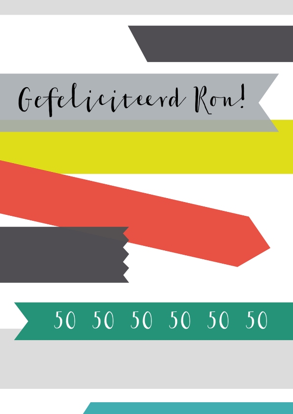 Felicitatiekaarten - Felicitatie-Tape rechthoek-HK