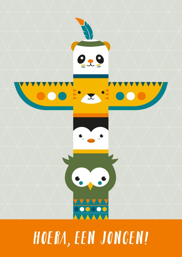 Felicitatiekaarten - Felicitatie - Totempaal dieren