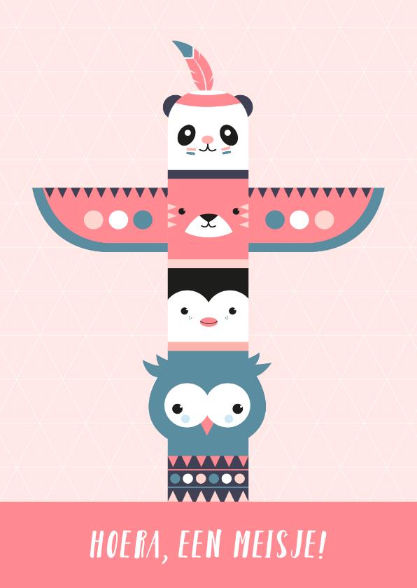 Felicitatiekaarten - Felicitatie - Totempaal met dieren