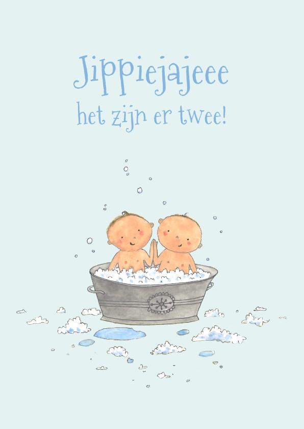 Felicitatiekaarten - Felicitatie Tweeling Babybadje