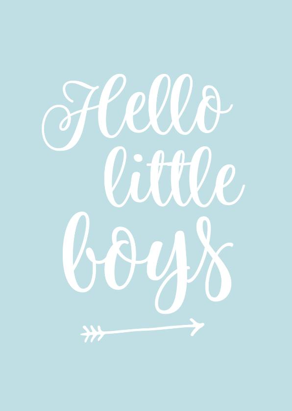 Felicitatiekaarten - Felicitatie - tweeling hello little boys