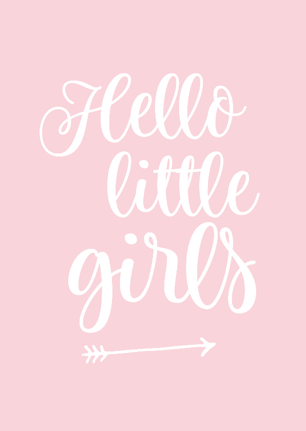 Felicitatiekaarten - Felicitatie - tweeling hello little girls