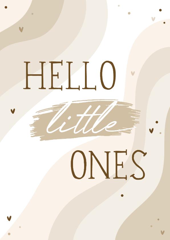 Felicitatiekaarten - Felicitatie tweeling hello little ones regenboog