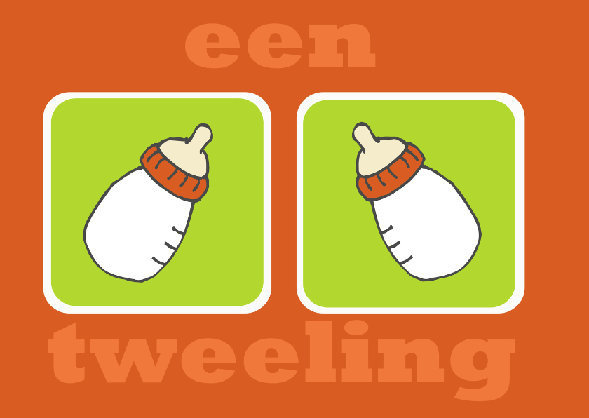 Felicitatiekaarten - Felicitatie tweeling