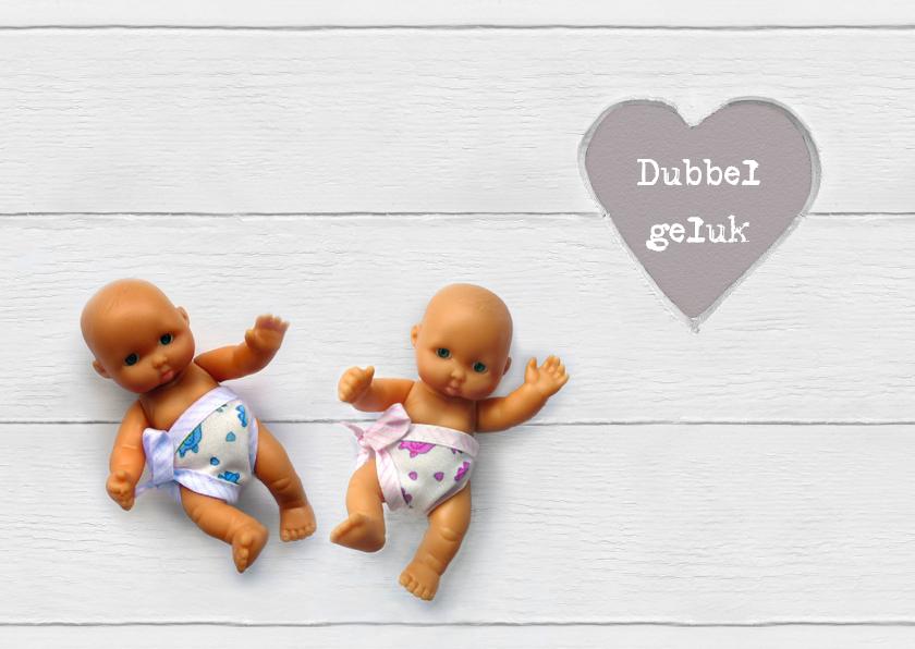 Felicitatiekaarten - Felicitatie Vintage twin popjes