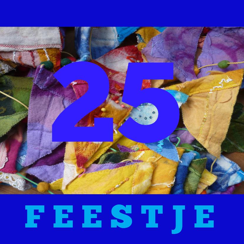 Felicitatiekaarten - Felicitatie vlaggetje blauw - AW