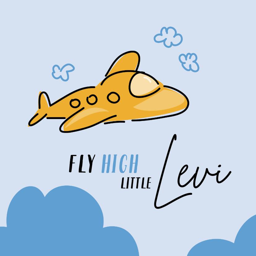 Felicitatiekaarten - Felicitatie vliegtuig fly high little one
