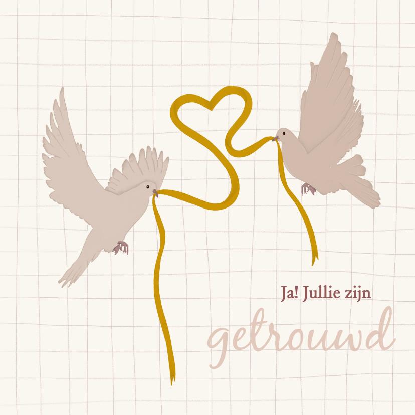 Felicitatiekaarten - Felicitatie voor huwelijk - lovebirds