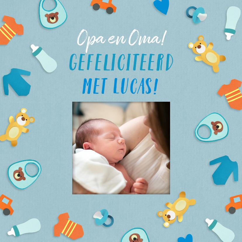 Felicitatiekaarten - Felicitatie voor opa en oma fotokaart jongen