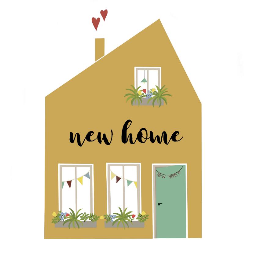 Felicitatiekaarten - Felicitatie Yellow House