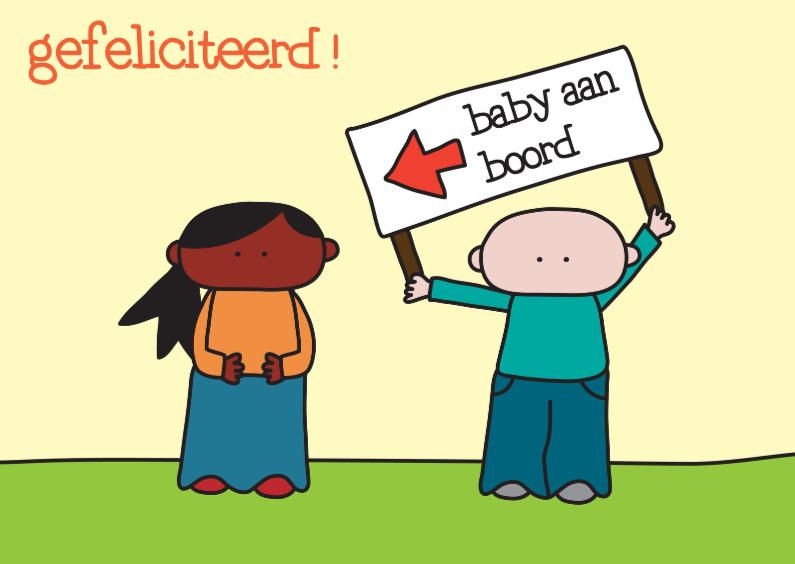 Felicitatiekaarten - Felicitatie Zwanger Aan Boord
