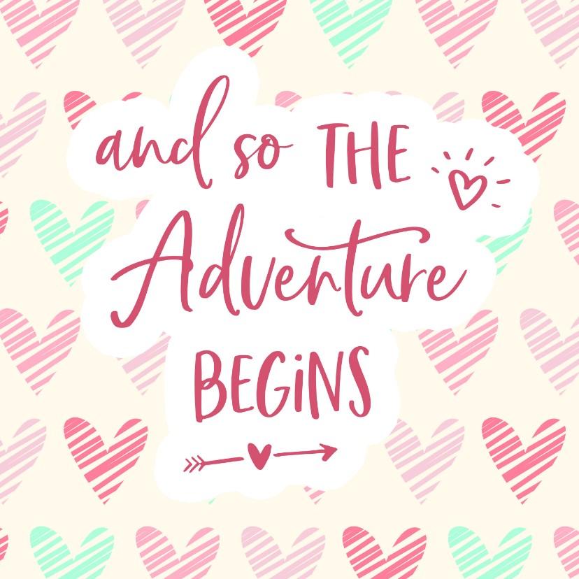 Felicitatiekaarten - Felicitatie - zwanger adventure begins