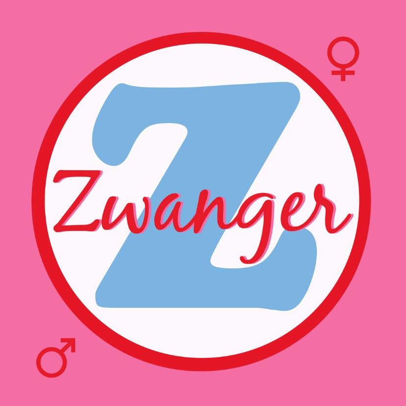 Felicitatiekaarten - Felicitatie Zwanger met Z