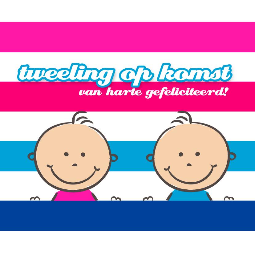 Felicitatiekaarten - Felicitatie zwangerschap tweeling