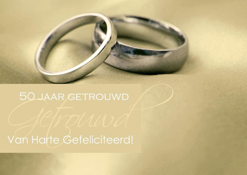 Felicitatiekaarten - Felicitatiekaart 50 jarig huwelijk