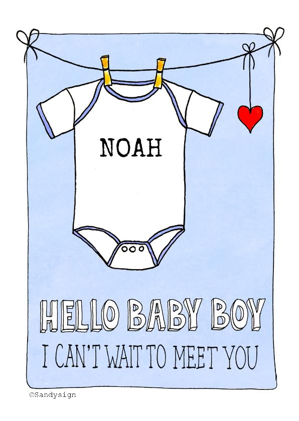 Felicitatiekaarten - Felicitatiekaart baby boy een jongen - SD