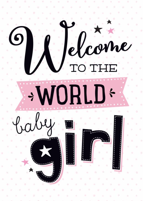 Felicitatiekaarten - Felicitatiekaart Baby girl-99