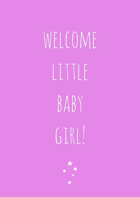 Felicitatiekaarten - Felicitatiekaart Baby girl