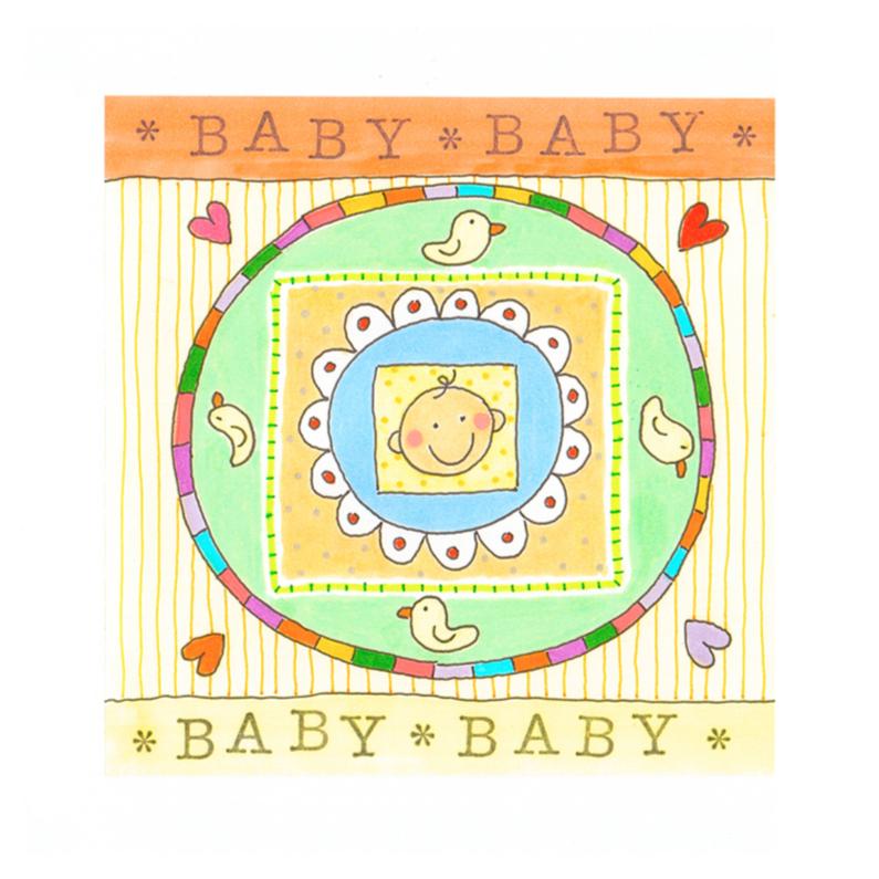Felicitatiekaarten - Felicitatiekaart baby, kleurig
