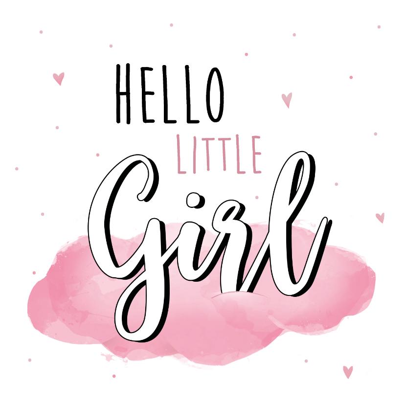 Felicitatiekaarten - Felicitatiekaart bij de geboorte van een meisje