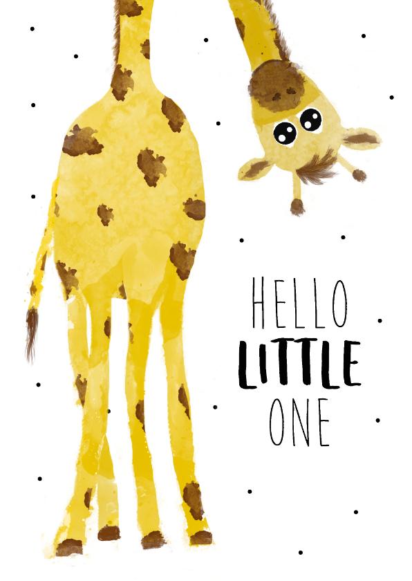 Felicitatiekaarten - Felicitatiekaart bij een geboorte met giraffe