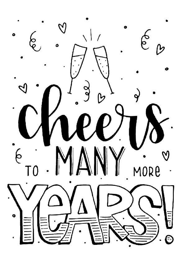 Felicitatiekaarten - Felicitatiekaart - Cheers to many more years