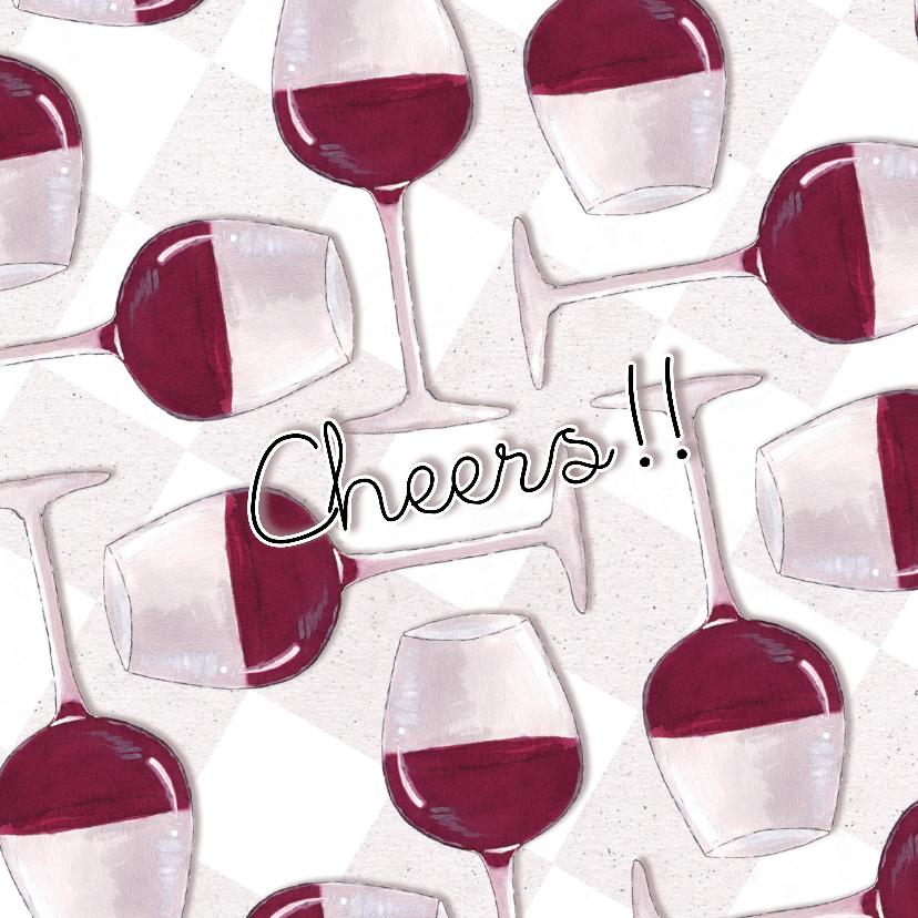 Felicitatiekaarten - Felicitatiekaart Cheers!!