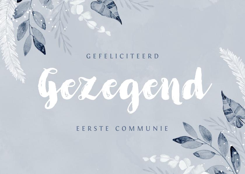 Felicitatiekaarten - Felicitatiekaart communie doopsel gezegend christelijk
