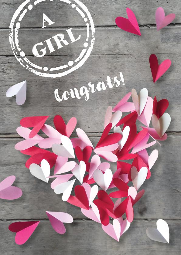 Felicitatiekaarten - Felicitatiekaart dochter hart