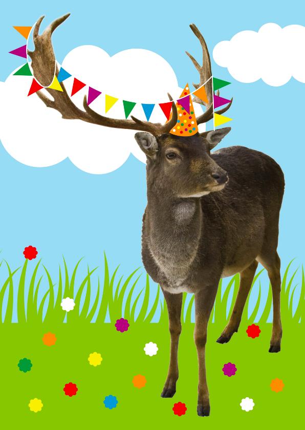 Felicitatiekaarten - Felicitatiekaart Feest hert