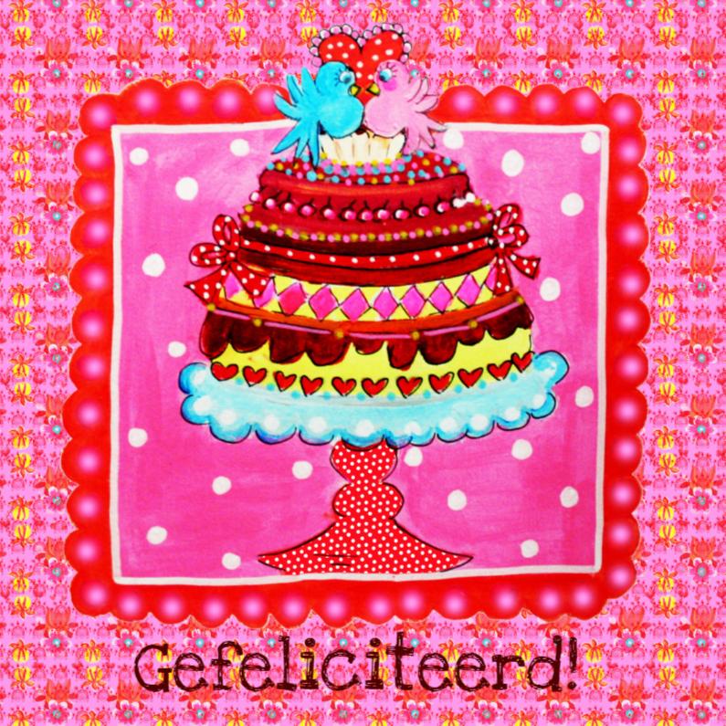 Felicitatiekaarten - Felicitatiekaart Feesttaart PA