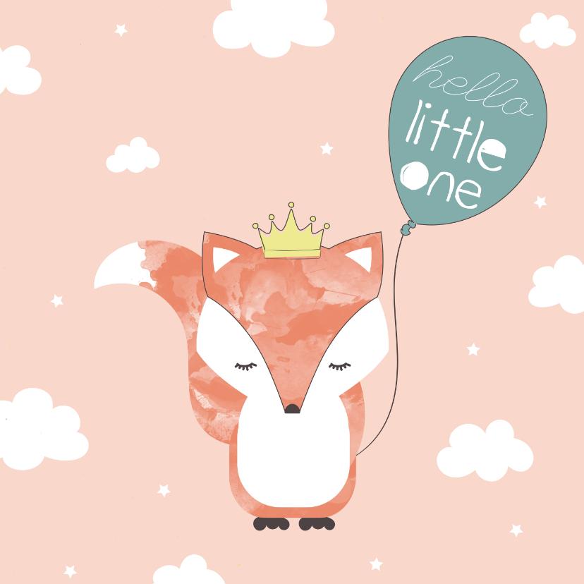 Felicitatiekaarten - Felicitatiekaart geboorte meisje - Hello Little One
